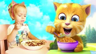 Little Varvara play Talking Cat Game Ginger