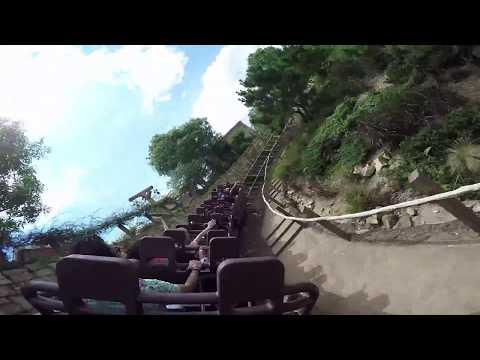Big Grizzly Mountain Runaway Mine Cars Back Seat POV (Hong Kong Disneyland)