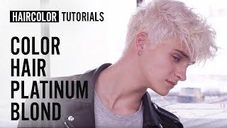 How to do the Platinum Blond haircolor? by Maison Gérard Laurent | L'Oréal Professionnel tutorials