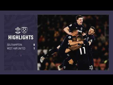 EXTENDED HIGHLIGHTS   SOUTHAMPTON 0-1 WEST HAM UNITED