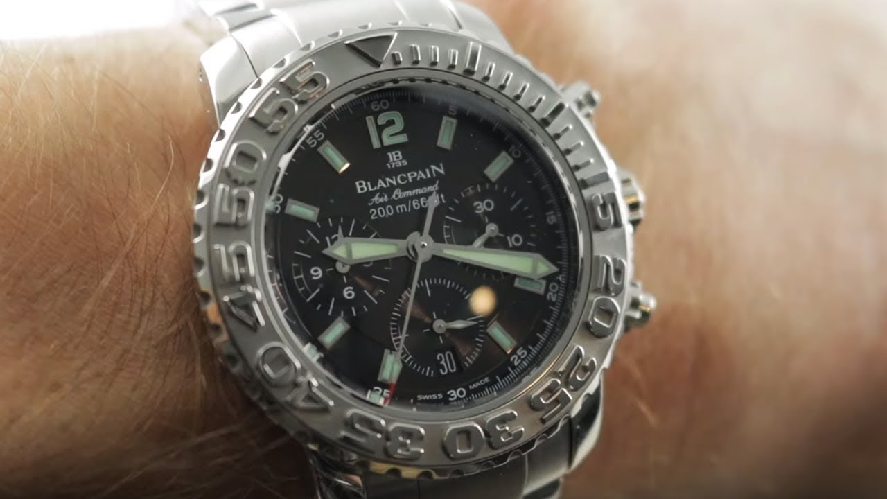 Blancpain Air Command Flyback Chronograph 2285f 1130 71 Dive Watch Review Youtube