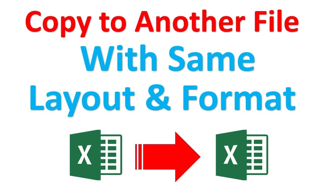 How to copy excel sheet to another excel file without losing layout and  format | Excel tutorial