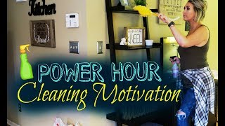 POWER HOUR CLEAN WITH ME  EXTREME CLEANING MOTIVATION  Summer Whitfield