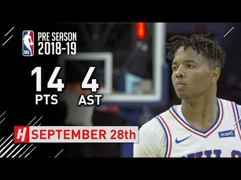 Markelle Fultz Full Highlights 76ers vs Melbourne United 2018 NBA Preseason - 14 Pts, 4 Ast!