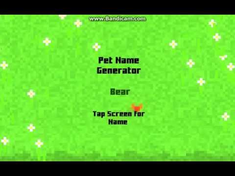 Random Pet Name Generator