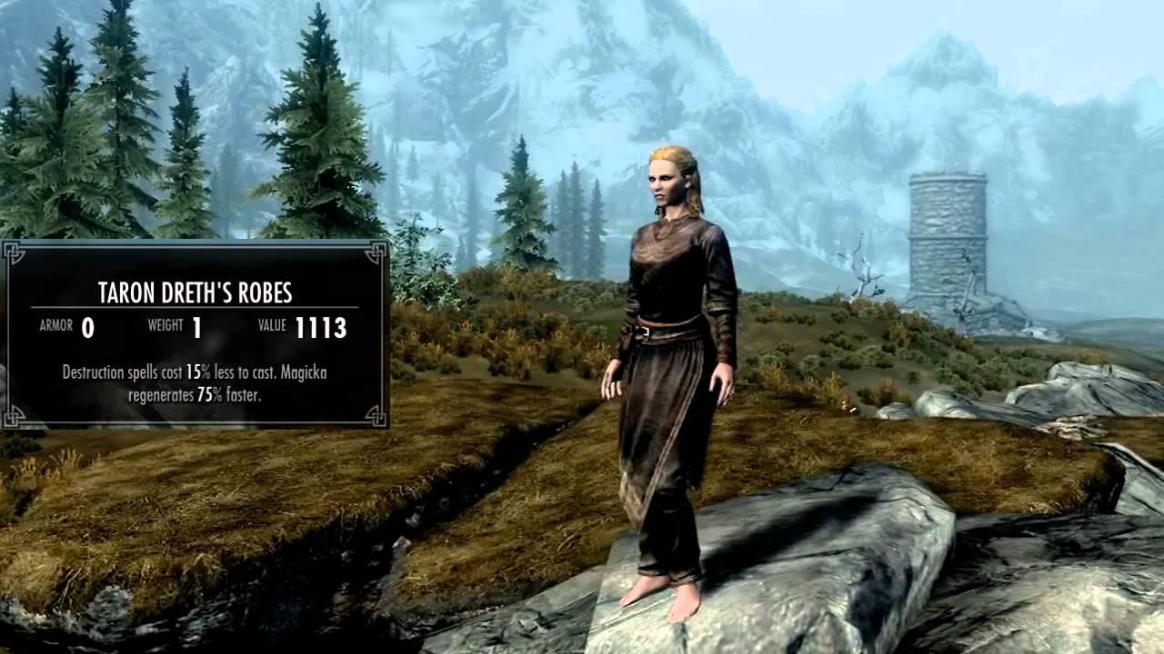 Skyrim All Cloth Armor Female Youtube