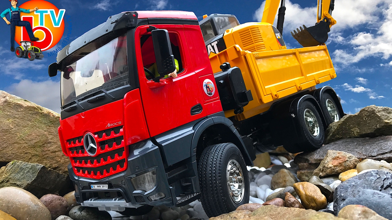 Bruder toys truck new rc mercedes benz arocs 6x4 tamiya for Mercedes benz truck toys