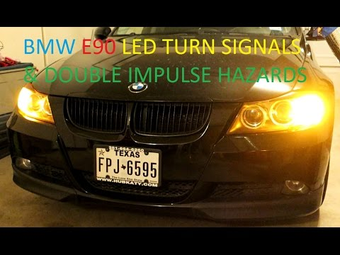 BMW E90 LED Turn Signal Upgrade and Double Impulse Euro Haza