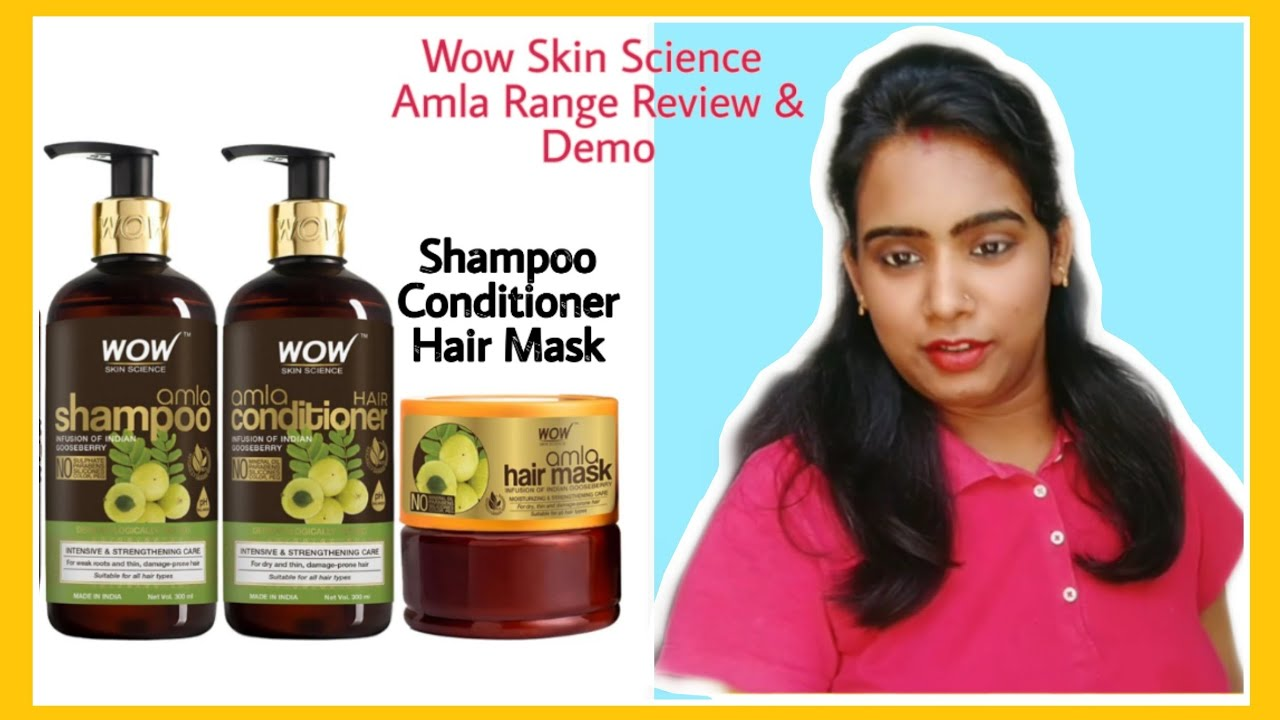 *New Launch*   Wow Skin Science Amla Range   Shampoo   Conditioner   Hair Mask