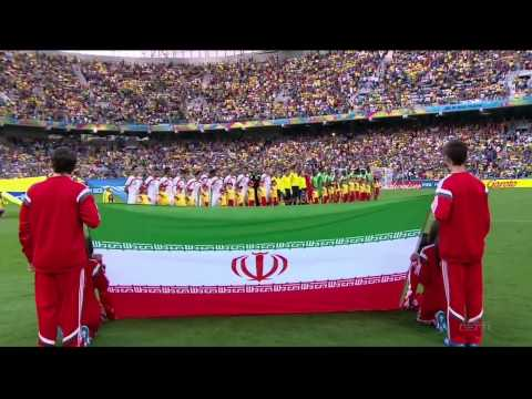 National Anthems World Cup 2014 - Iran vs Nigeria