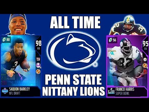 ALL-TIME PENN STATE NITTANY LIONS! SAQUON BARKLEY, FRANCO HARRIS, SEAN LEE & MORE! Madden 18