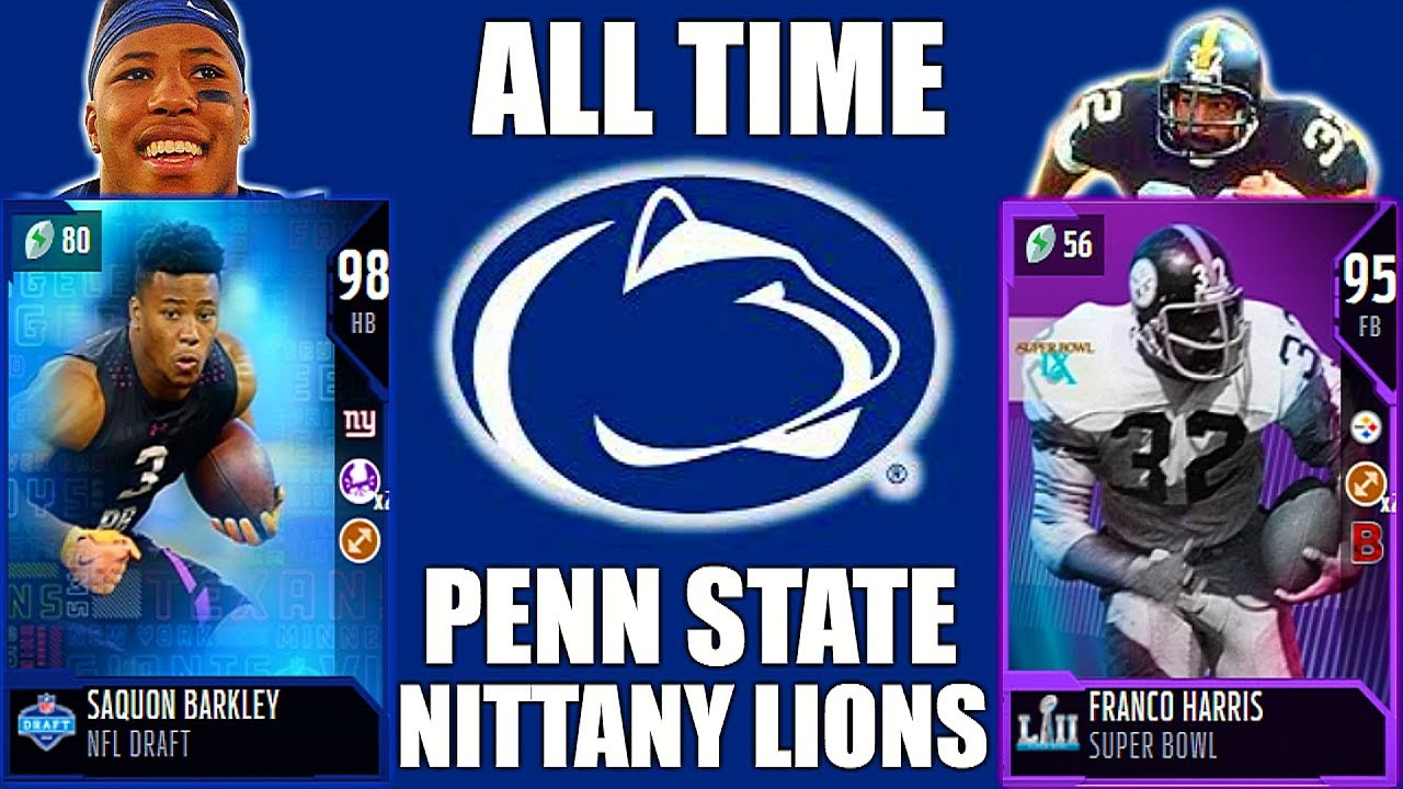 uk availability d9ebe 82f9c ALL-TIME PENN STATE NITTANY LIONS! SAQUON BARKLEY, FRANCO HARRIS, SEAN LEE  & MORE! Madden 18