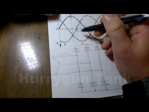 Как работает трёхфазный диодный мост.