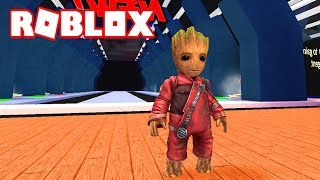 I AM GROOT IN ROBLOX!!! - SUPERHEROES TYCOON 2 in Spanish