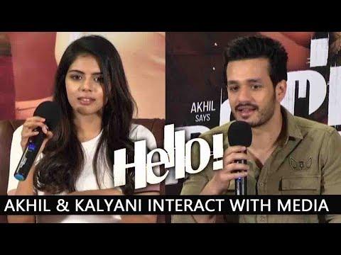 Akhil Akkineni & Kalyani Priyadarshan Interact With Media About Hello Movie | Vikram K Kumar