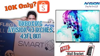AViSion 43″ Smart LED Television (43FL801) Unboxing and Review