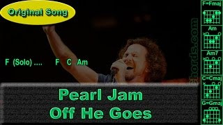 Pearl Jam - Off He Goes - Original - Guitar Chords (0021-A1)