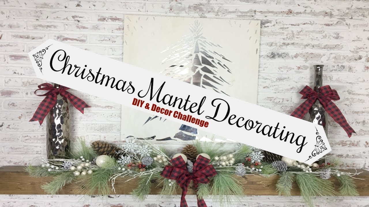 decorating your mantel for christmas christmas diy decor challenge 2017 momma from scratch - Decorating Your Mantel For Christmas