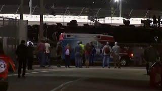 Ryan Newman hospitalized after crash in Daytona 500.