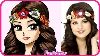 How to Draw Selena Gomez - Manga, Anime, Drawing tutorial CUTE(Learn how to Draw a pretty girl hair easy in this art tutorial video! SUBSCRIBE http://www.youtube.com/subscription_center?add_user=Fun2draw Draw ..., 2016-04-14T14:30:00.000Z)