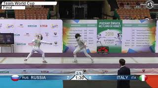 2018 824 F F Team Katowice POL WC Final podium ITALY ITA vs RUSSIA RUS