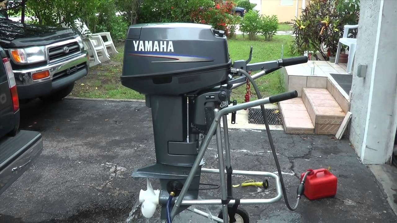 yamaha outboard ignition switch wiring diagram honda recon 250 rear axle 25hp 2 stroke starting problem solved youtube