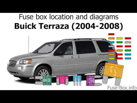 fuse box location and diagrams: buick terraza (2004-2008)