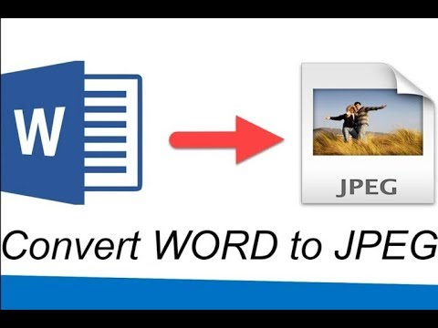 How To Save A Word Document As A JPEG   TUTORIAL 2019