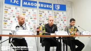 Pressekonferenz - 1. FC Magdeburg gegen Berliner AK 07 - www.sportfotos-md.de