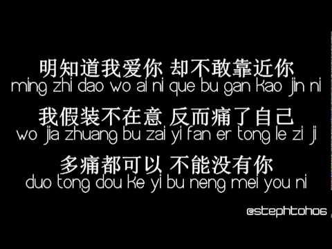 ★ PINYIN LYRICS | 龔芝怡 Gong Zhi Yi - 明知我愛你 Ming Zhi Wo Ai Ni ★ - YouTube