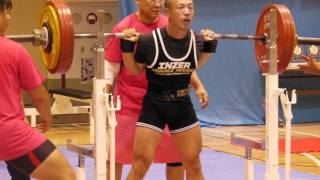 井上雄介選手、スクワット日本新211キロ