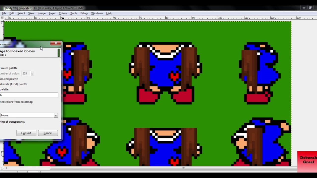 Graal Tutorial: How to index body with hair extension on GIMP 2