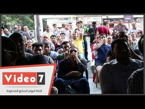 لحظة متابعة الجماهير المصرية لنهائى كأس العالم  - نشر قبل 3 ساعة