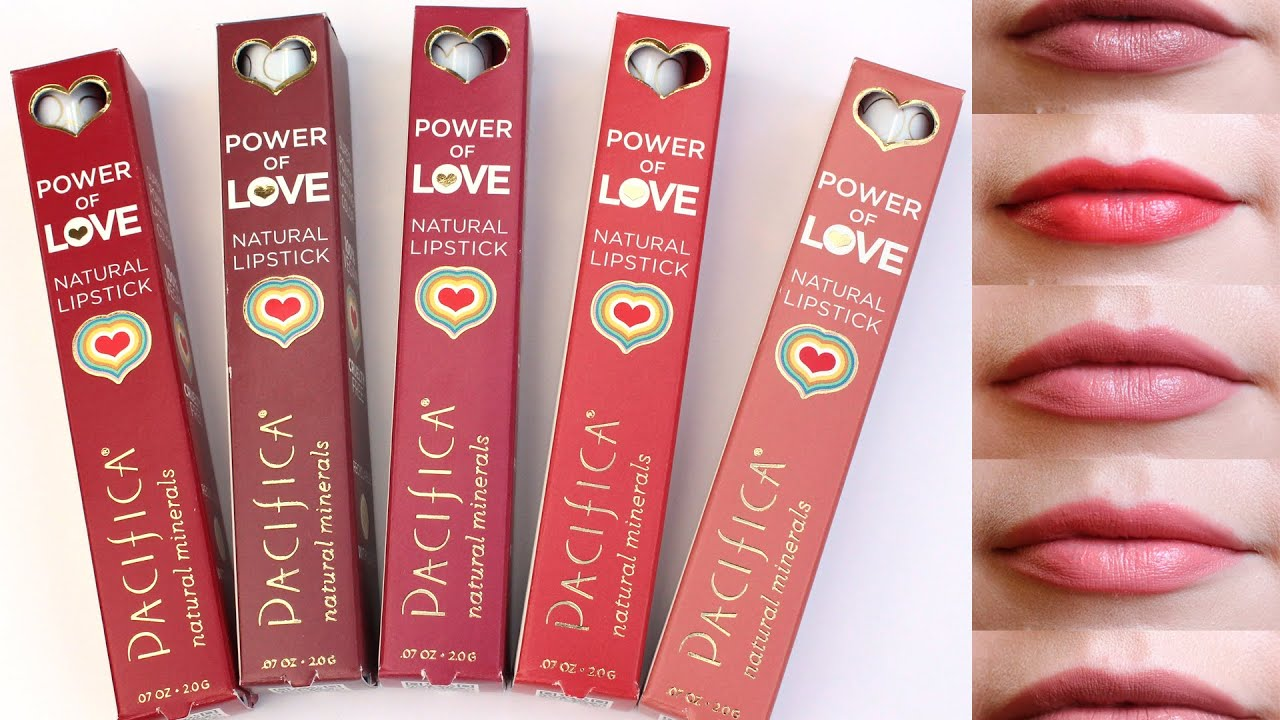 pacifica power of love lipstick swatches - youtube