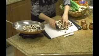 samiras kitchen # 26 mushroom artichoke dip, cheese straws, sesame biscotti