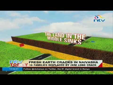 Fresh earth cracks appear in Naivasha