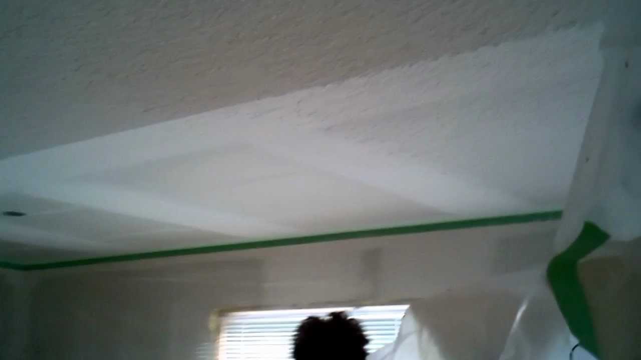 How To Apply Snowtex/Popcorn Ceilings   YouTube