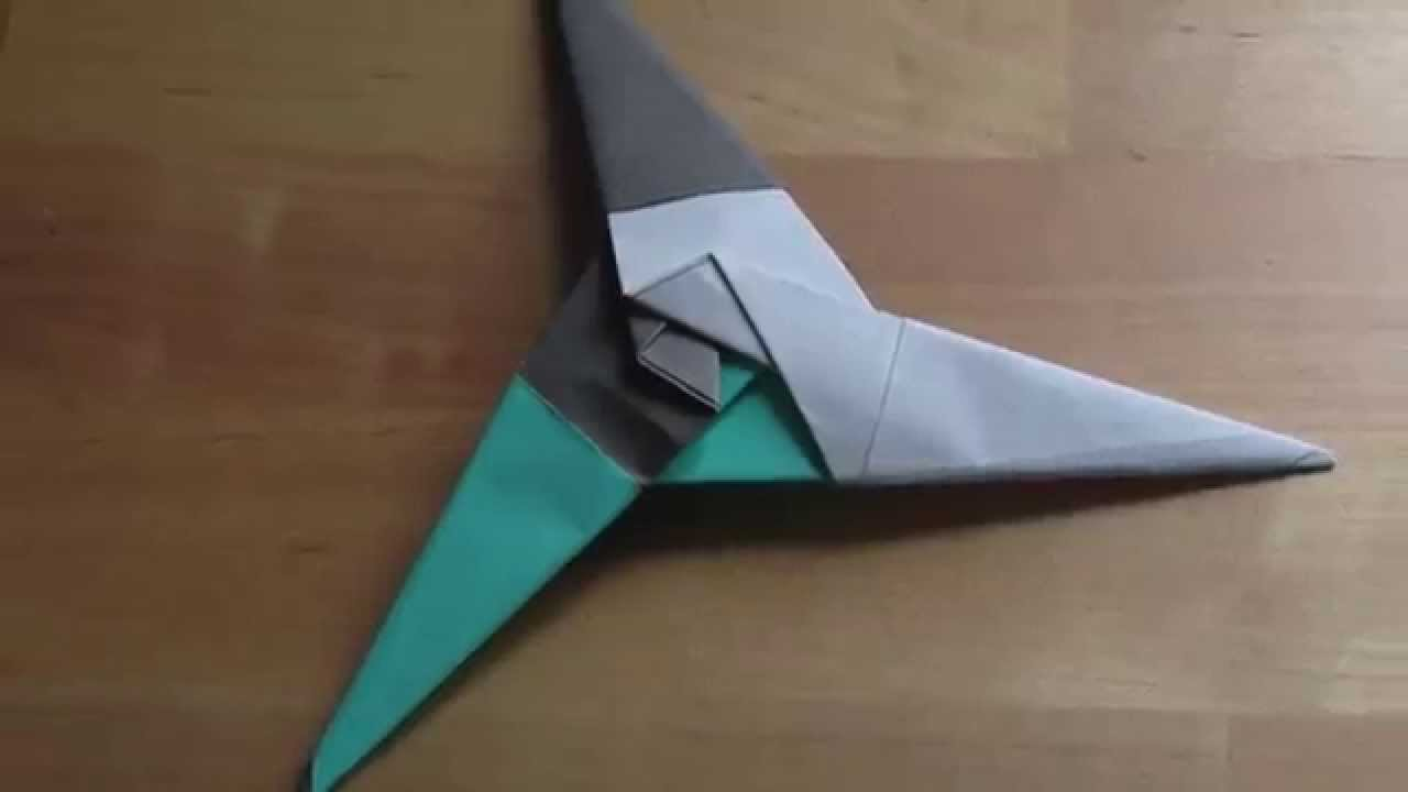 Origami 3 Pointed Ninja Star Time Lapse