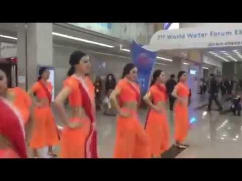Korean Dancers tapping feet to Rangabati - Classic hit number of Odisha