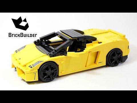 Lego Racers 8169 Lamborghini Gallardo Lego Speed Build Youtube