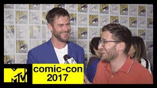 Chris Hemsworth Has a Lot of Love for 'Wonder Woman' | Comic-Con 2017 | MTV