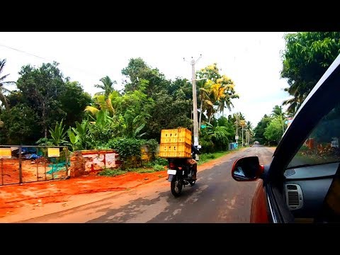 Nagercoil to Colachel drive   Minutes after rain   India Walking Tour