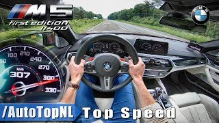 BMW M5 F90 | 307km/h | AUTOBAHN POV TOP SPEED by AutoTopNL