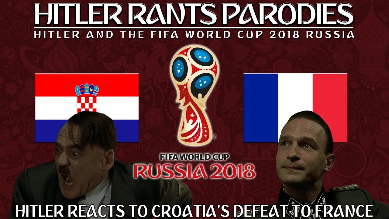 Hitler reacts to Croatia's defeat against France in the World Cup Final