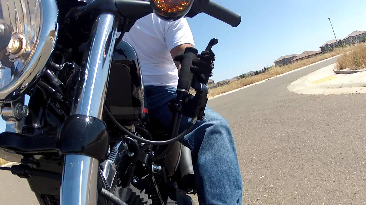 Harley Davidson Sportster 48 learning jockey shift / suicide shift  nightster and iron 883