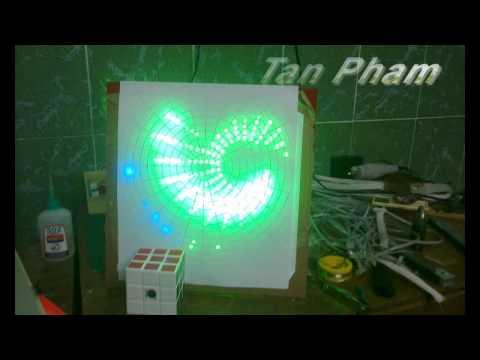 Mach Trai Tim dùng led 7 màu từ A-Z