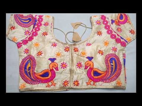 Designer Rajwadi Embroidery Work Readymade Blouses