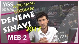 Çözümlü YGS Coğrafya Deneme Sınavı / 2017 MEB-2