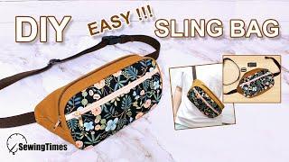 DIY EASY SLING BAG | 슬링백 가방 만들기 | crossbody bag tutorial & pattern | 메신저백 como hacer [sewingtimes]