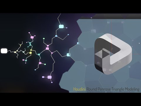 Houdini   Penrose Triangle   Modeling and Rendering the comp elements